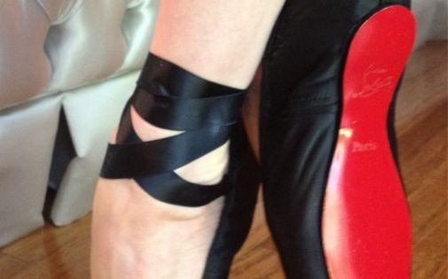 Christian Louboutin ballet pointe shoes!