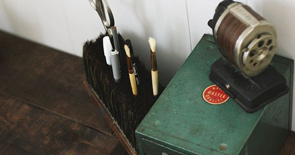 Diy Broom Head Desk Caddy Office Supplies Gift Basket Desk