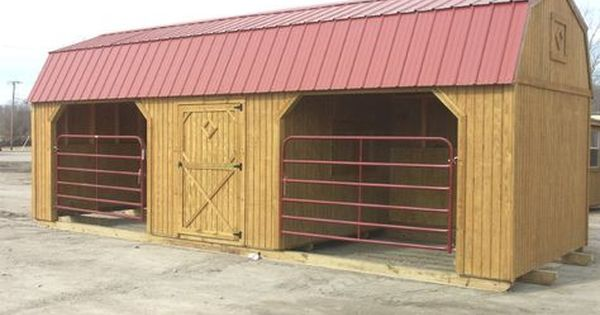 This Is Such A Great Little Barn Idea I Think We Could Build Something Similar Horse Shed Horse Shelter Barn Stalls