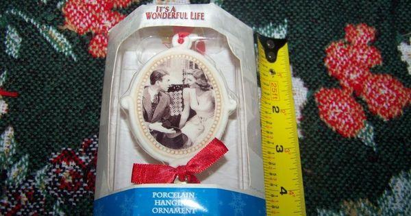 Its A Wonderful Life Enesco Porcelain Ornament Jimmy Stewart Donna Reed 2002 Nip Classic