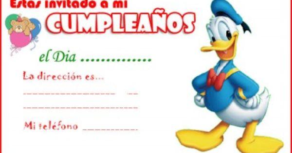 Invitaciones De Cumpleaños Para Editar Para Descargar