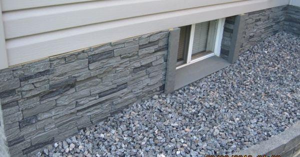 Goodbye Ugly Foundation Faux Stone Panels From Nextstone Deck Pinterest Faux Stone