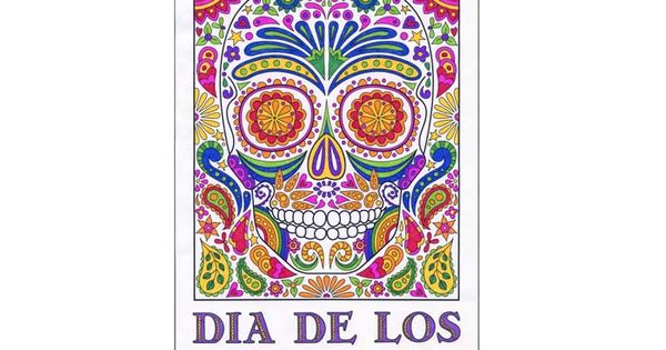 Day of the dead mural template buy the pdf file for 5 for A perfect day mural