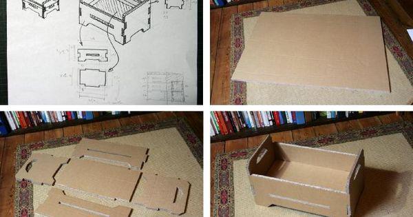 lit en carton pour poup e meubles barbie faire soi m me pinterest carton lits et barbie. Black Bedroom Furniture Sets. Home Design Ideas