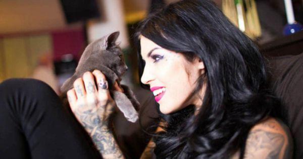 Kat Von D And Deadmau5 Bond Over Their Shared Love Of Cats Kat Von Kat Von D Kat