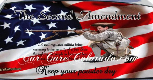 2nd Amendment Right To Bear Arms Custom Truck Rear Window