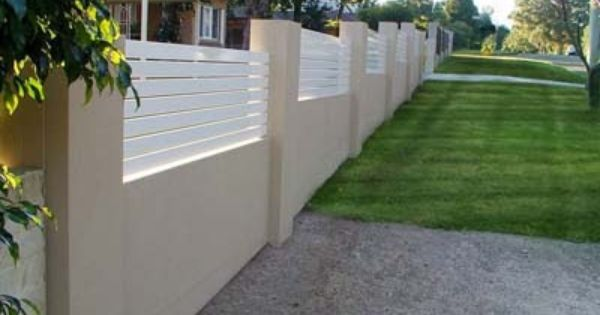 brick and timber fence Google Search Fence ideas Pinterest