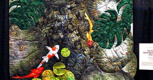 Dsc02790 the pond remembering colvin quilt koi quilt for Pool koi manchester