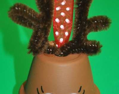 Cute. Reindeer Clay Pot Craft | Dollar Store Crafts » Blog Archive