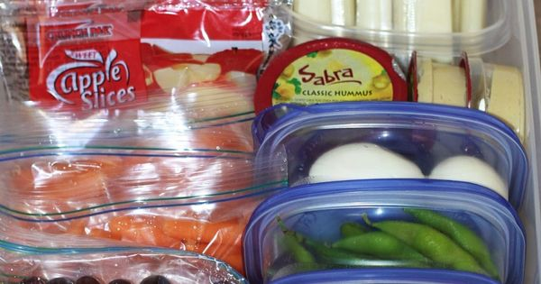 PLAN AHEAD! Great tips! Create a healthy snack drawer in your fridge,