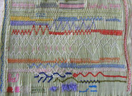 Advanced smocking stitches sampler sewing basics