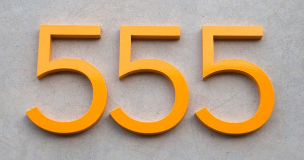 Modern House Numbers Ours Are Bright Green Right Now But