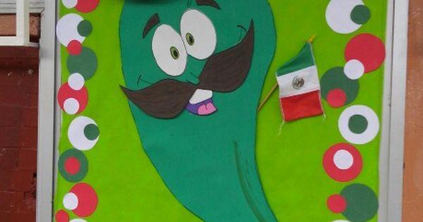 Decoraci n de puerta mexicana fiestas patrias chile for Decoracion para puertas de preescolar