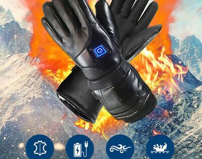 Advertisement Ebay Leather Electric Heated Gloves Winter Warmer W Rechargeable Battery Motorcycle Heated Gloves Winter Warmers Gloves Winter