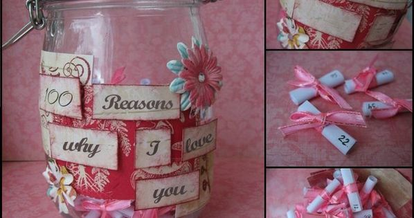 Homemade valentine 39 s day gift ideas girlfriend jar reasons for Valentines day ideas wife