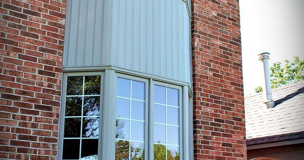 Wood Clad Aluminum Bay Windows Gray Aluminum Cladding On