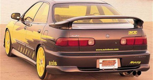 1994 Acura Integra With Yellow Tint I Wish My Car Had A Spoiler Acura Integra Acura Jdm