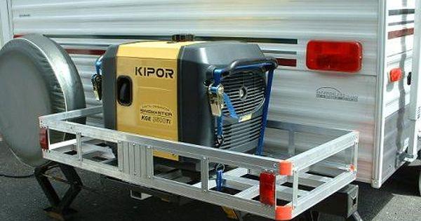 Aluminum Bumper Mounted Cargo Carrier Installed Cargo Carrier Travel Trailer Floor Plans Hybrid Travel Trailers