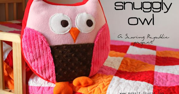 Free Pattern For Stuffed Owls I Shrunk The Original