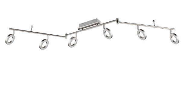Led Deckenlampe Mit 6 Ringformigen Spots Und Einer Lange Von 150 Cm Led Led Leuchten Wohnen Lampen Leuchten Led Deckenlampen Led Leuchten Deckenlampe