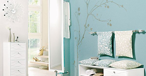 13 gestaltungsideen f r den flur abget ntes blau oder. Black Bedroom Furniture Sets. Home Design Ideas