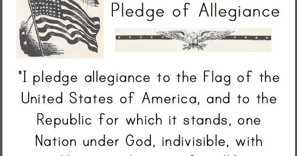 pledge of allegiance printable sign for classrooms brownies pinterest homeschool social. Black Bedroom Furniture Sets. Home Design Ideas