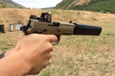 Fn Fnp 45 Tactical Silencerco Osprey Suppressor Trijicon