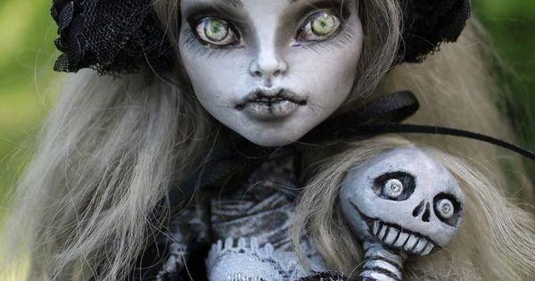 OOAK art doll Monster High custom repaint Victorian mummy by A. Gibbons