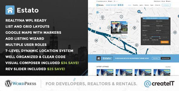Estato Wordpress Theme For Real Estate And Developers Website