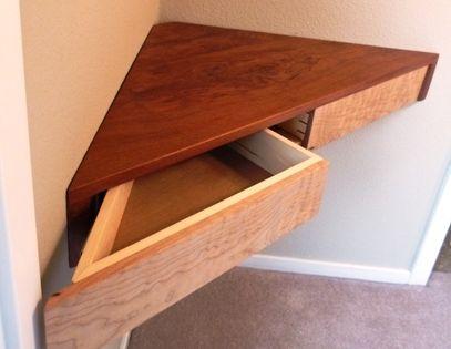 floating corner shelf with drawers readers gallery. Black Bedroom Furniture Sets. Home Design Ideas