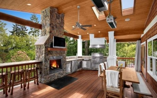 70 Awesomely Clever Ideas For Outdoor Kitchen Designs Outdoor Kitchen Design Traditional Porch Diy Outdoor Kitchen
