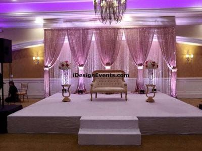 Mauve Rose Gold And Blush Sequin Backdrop With Crystals Wedding Reception Backdrop Reception Backdrop Wedding Reception Centerpieces