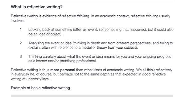 academic skills reflective essay