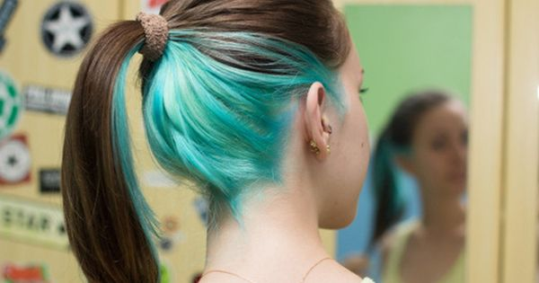 Pin By Fashion Style Beauty On Colorful Hair Hair Color Underneath Underlights Hair Hair Highlights