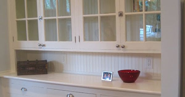 Butler's pantry.. Built in china cabinet for blue willow