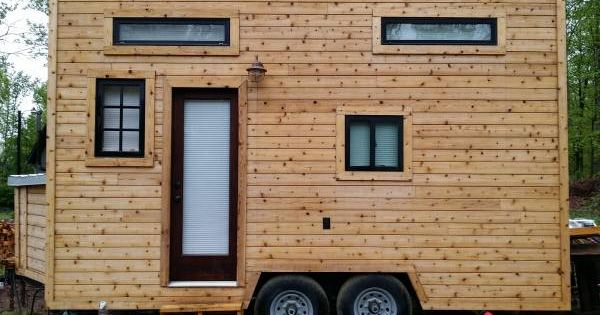Adorable 17 Ft Cedar Tiny House Va Reduced Tiny House Listings Tiny House On Wheels Tiny Houses For Sale