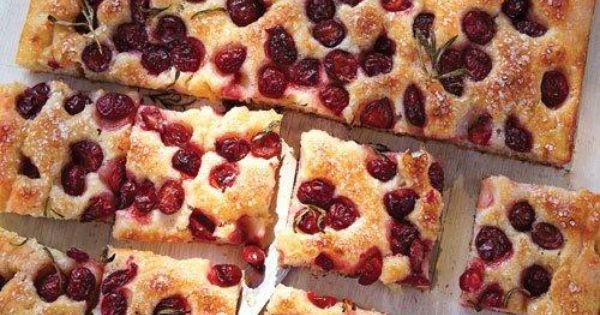 Sour Cherry and Rosemary Focaccia | Recipe | Focaccia ...