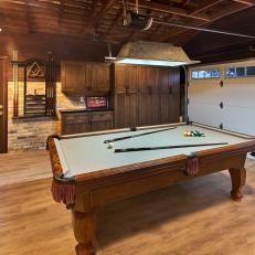 Game Room Garage With Pool Table Garage Game Rooms Game Room