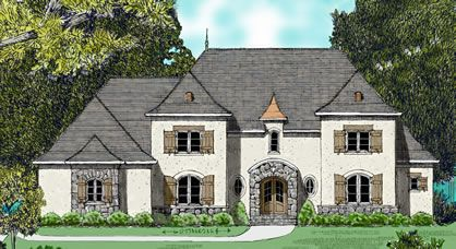 View Plans For A French Country Style Manor House That Features A Great Room With A Two Sto French Country House Plans French Country House Country House Plans