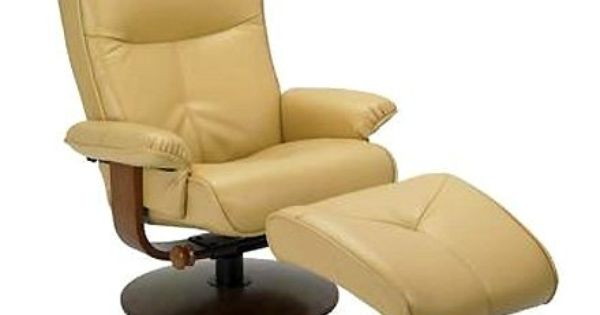Nexus Butter Yellow Dura Leather Recliner And Ottoman Set