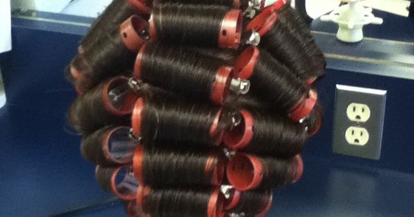Roller Set On A Long Hair Mannequin Using Half Off And On