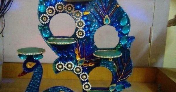 Peacock Diya Stand Diy Home Decor Pinterest Diy And