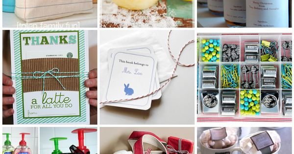 20 gift ideas. Handmade and store bought.