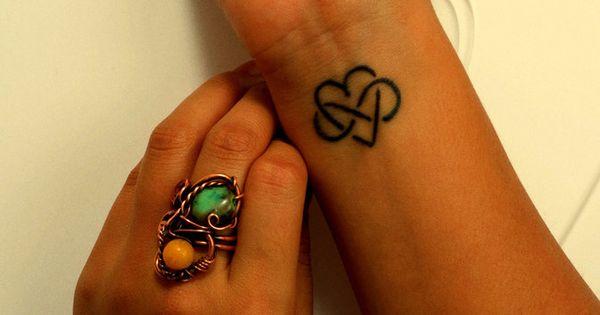 Infinity Heart Tattoo On Wrist - http://tattoosaddict.com/infinity-heart-tattoo-on-wrist.html heart, infinity, infinity tattoo, infinity