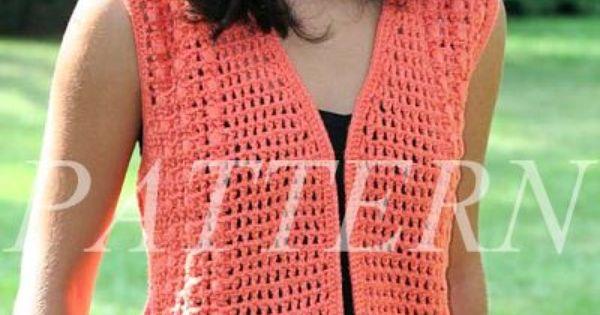 Free Easy Knit Vest Patterns Misti Alpaca Crochet Open Weave Vest Pattern -...