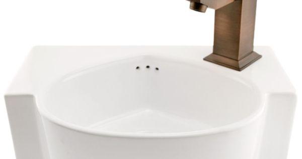 Mini Wall Mount Sink : Finola Mini Wall Mount Sink Small sink for cottage bathroom Bunkie ...
