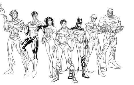 Justice League Coloring Pages Coloringpageskid Com Kleurplaten Haarkleur