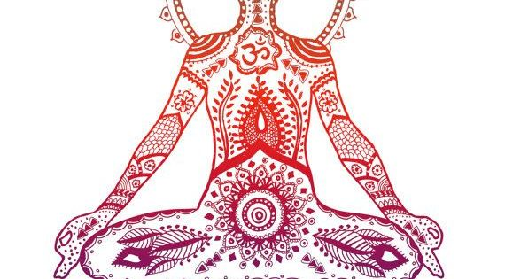 Namaste - Art Print, Red Lotus, Yoga Pose | Yoga art ...