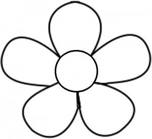 Friendly Flower Free Embroidery Pattern Flower Printable Flower Template Printable Flower Coloring Pages