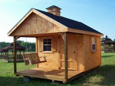 Shead ideas 10x16 garden shed with loft porch and for Shed with porch and loft